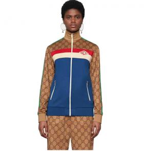 gucci blouson pantalon de survetement blue grid